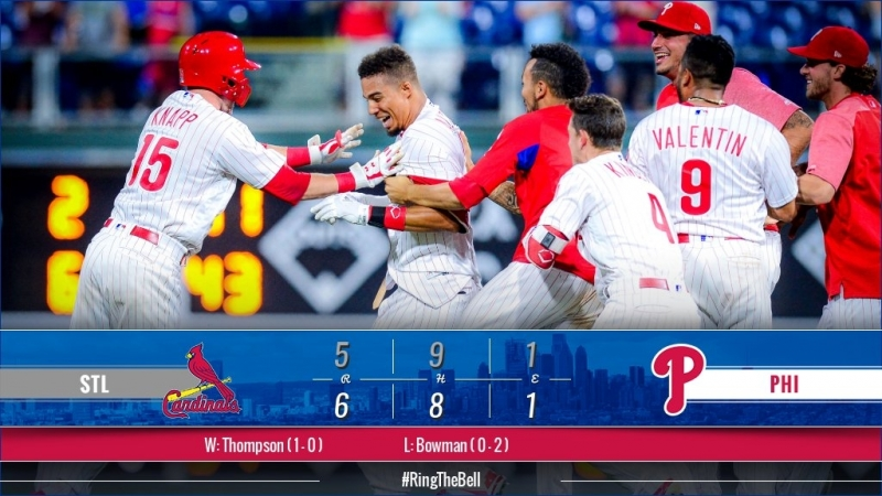 Game 70: PHI_6_STL_5 (10 innings) © MLB.com