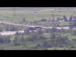 На трассе Чита - Хабаровск рухнула часть автомобильного моста
