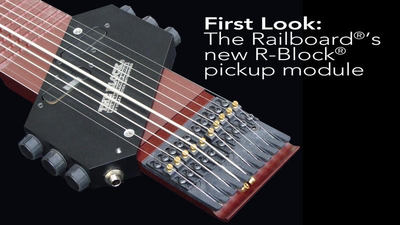 Chapman Stick Railboard pickup - meet the R-Block™