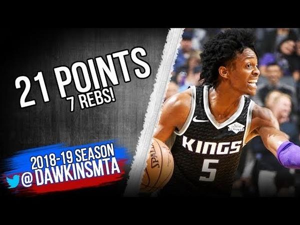De'Aaron Fox Full Highlights 2018.11.10 Kings vs Lakers - 21 Pts, 7 Rebs   FreeDawkins