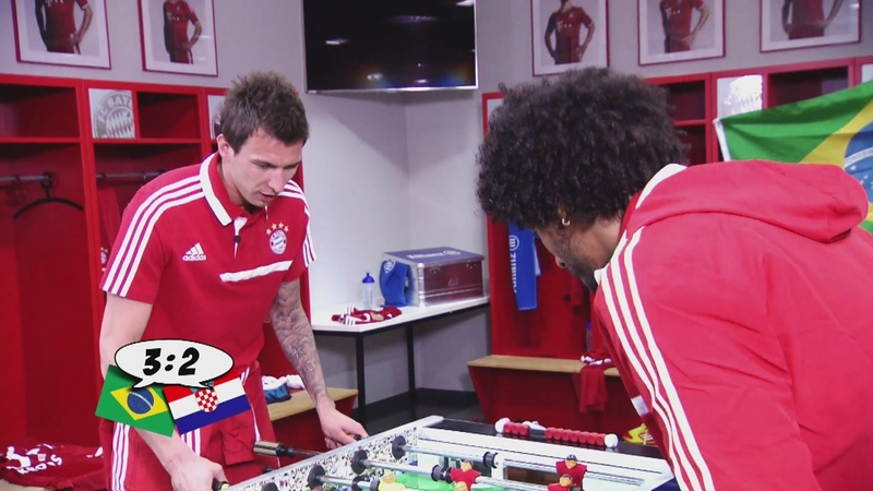 Mandzukic vs Dante Das witzigste und kurioseste Kicker Duell WM 2014 Brasilien vs Kroatien