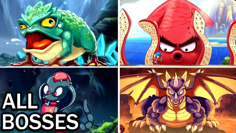 Monster Boy and the Cursed Kingdom All Bosses and Ending