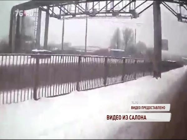 ВИДЕО Кадры из салона маршрутки попавшей в ДТП на Промышленном шоссе
