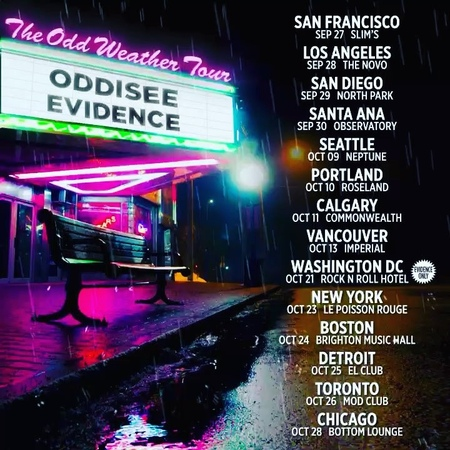 """@evidence on Instagram: """"☔️ @oddisee x @evidence starting end of this month ☔️"""""""