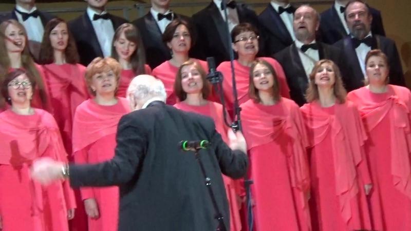 Выступление Камерного хора Гаудеамус МГТУ имени Н Э Баумана на концерте Московский праздник песни 2018 года