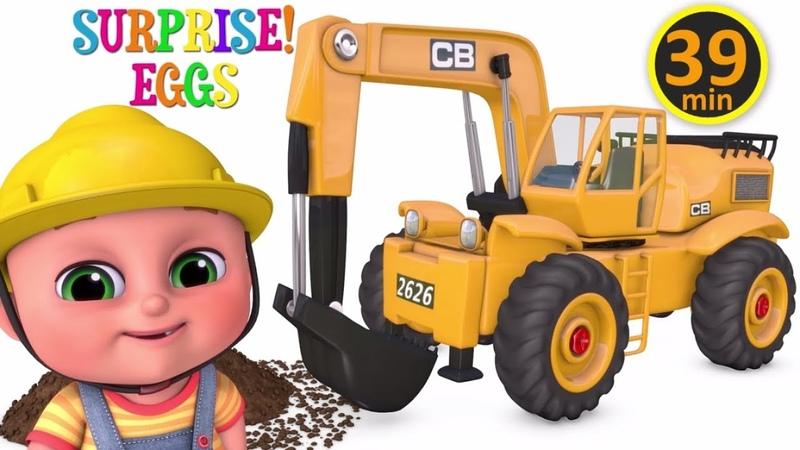 Excavator videos for children | Construction trucks for children | Trucks for children - Jugnu kids