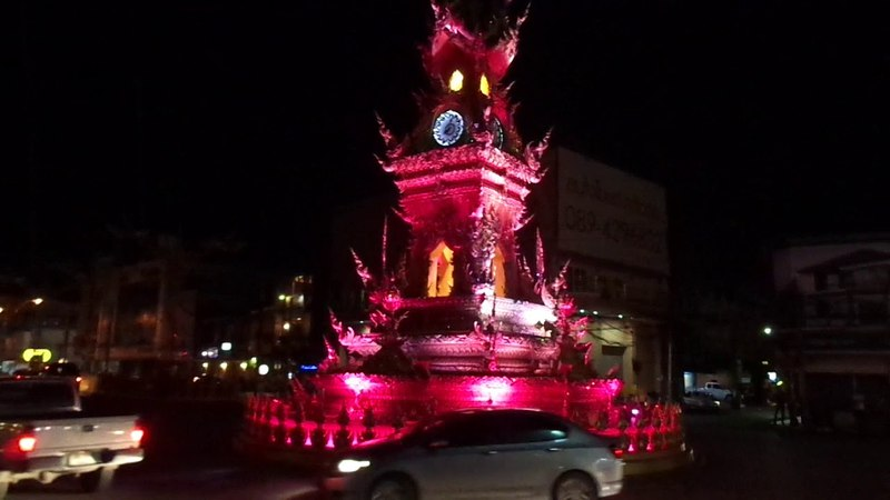 Clock Tоwer in Chiang Rai Nord Thailand