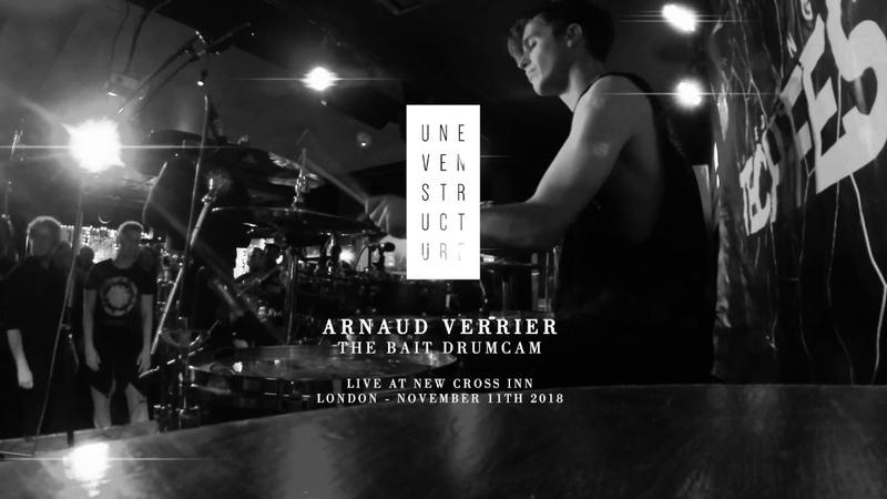 Uneven Structure - The Bait - Live Drum Cam 111118