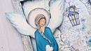 Decoupage błękitny aniołek DIY tutorial