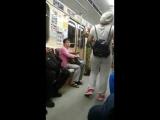 Беременная цыганка побирается в вагонах метро