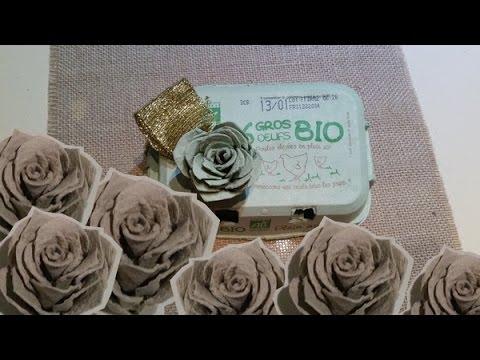 DIY Roses en boîtes doeufs! Roses with egg carton!