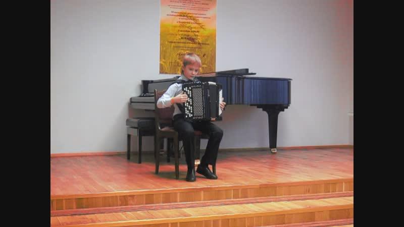 Коняев Дмитрий (баян, младшая группа). IV Золотой колос.