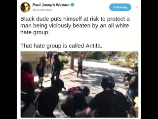That hate group is called Antifa
