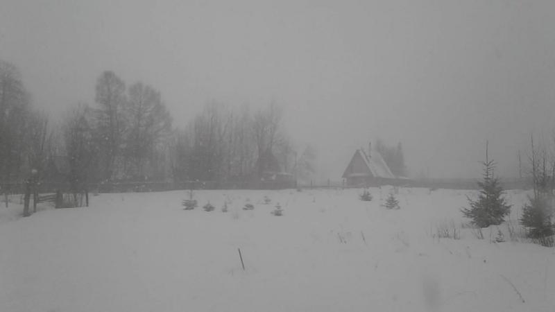Зима в конце апреля. п.Ветляны. 22 .04.18 г.