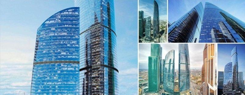 Все башни Москва-Сити.