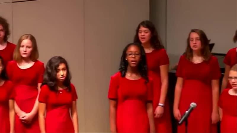 Американский хор исполняет песню Прекрасное далеко