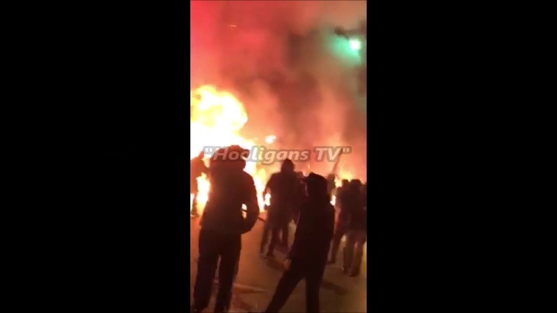 Ajax (CracoviaPanathinaikos) vs. AEK (Partizan Minsk), the night before the game. 26.11.2018