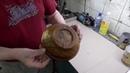 Тестирование горячей водой и жаром покрытия миски маслом Мартьянов