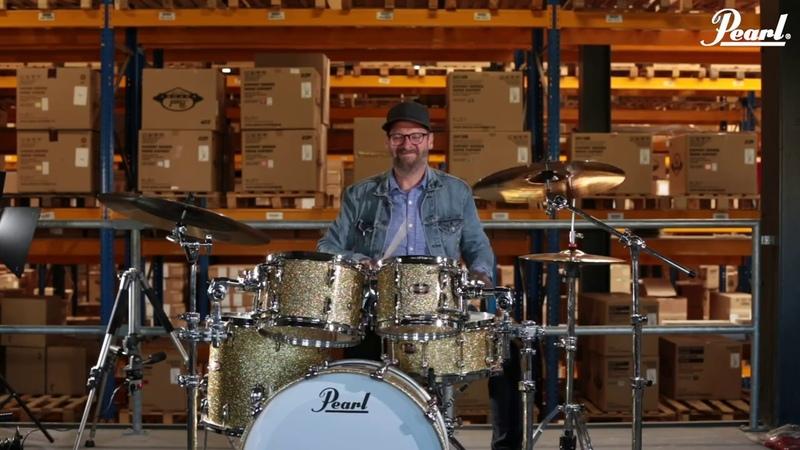 Thomas Nack jamming behind Pearl Masters Maple Reserve