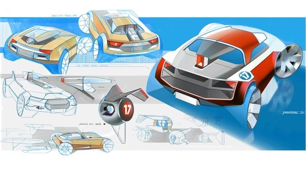 Проект Романа Крутикова Audi R2 Автор: Роман Крутиков, дизайнер Volswagen. Проект выполнен во время стажировки в дизайн-студии Audi