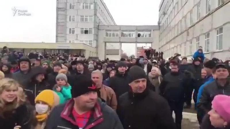 Наместник путина воробьев убежал поджав хвост из Волоколамска испугавшись народа