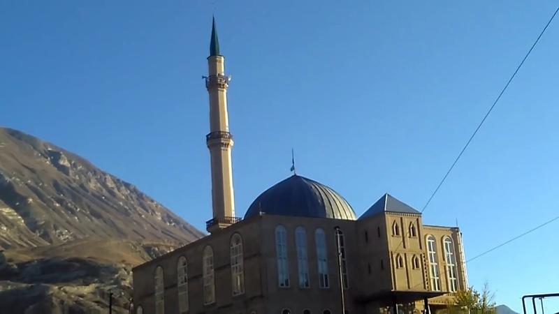3 Джума-мечеть села Ансалта издалека, Ботлихский район, ноябрь 2018   туризм в Дагестане