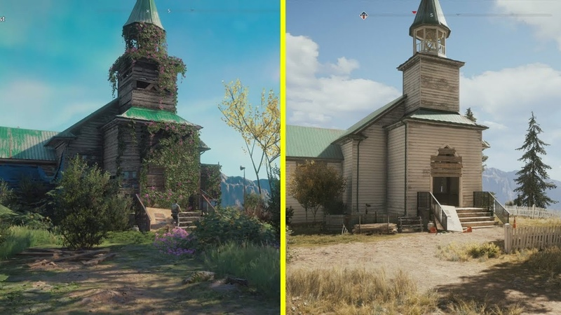 Far Cry New Dawn vs Far Cry 5 Location Early Comparison