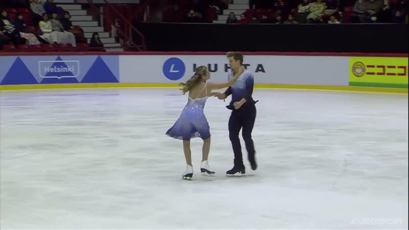 без комментаторов Christina CARREIRA / Anthony PONOMARENKO ПП Гран-При Хельсинки 2018
