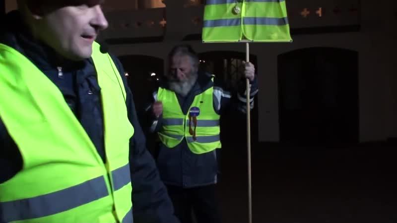 AUFRUF der Gilets Jaunes Gelbwesten Deutschland AN ALLE ! staatenlos.info live aus Wittenburg MV