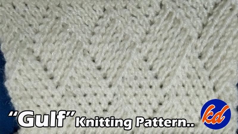 GULF Beautiful Knitting pattern Design 2018