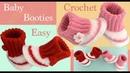 Como tejer a crochet Zapatitos para bebes niñas niños tejido tallermanualperu