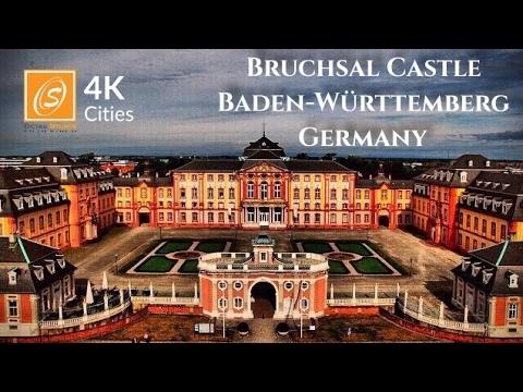 Bruchsal Castle - Walking Tour, Baden-Württemberg, Germany 4k UHD