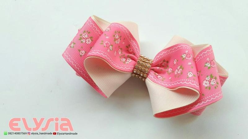 Laço Amora Grosgrain 🎀 Ribbon Bow 🎀 DIY by Elysia Handmade
