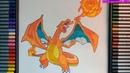 Cách vẽ rồng lửa Lizardon Charizard pokemon chủ lực của Satoshi