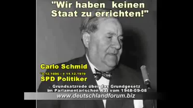 Grundsatzrede von Carlo Schmid über das Grundgesetz im Parlamentarischen Rat