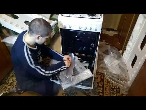 «Распаковка Газовая плита INDESIT KN1G21(W) из Rozetka.com.ua»