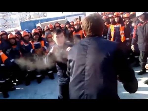 Сотни вахтовиков бастуют на месторождении Газпрома. Им не платят зарплату и с ними расправились.