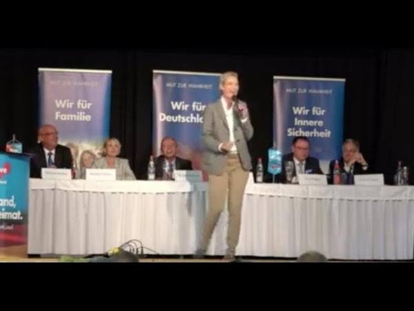 ,,Völlig verrückt was in Deutschland abgeht ► Alice Weidel Wahlkampfrede in Wunsiedel (Bayern)