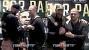 WHAT THE TYSON FURY TOUCHES FRANCESCO PIANETA'S CHEST DURING PRESS CONFERENCE FACE OFF