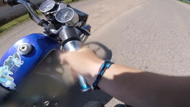 Fail упал на мотоцикле