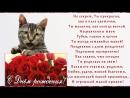 Прикольное поздравление С Днём Рождения ! Поющий кот..mp4