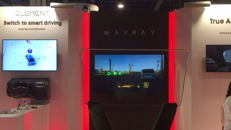WayRay holographic AR display for cars CES 2018