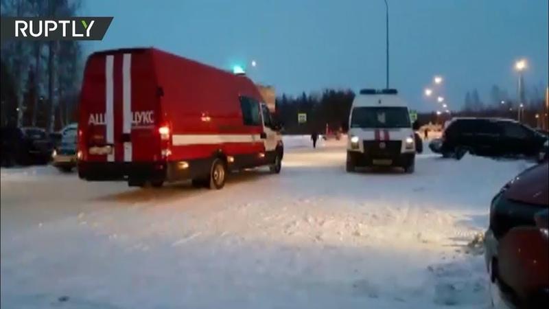 Кадры из окрестностей аэропорта Ханты-Мансийска, где приземлился борт Сургут — Москва
