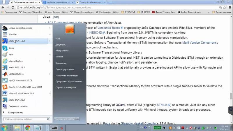 GolovachCourses Java Multithreading 28.08.2014 Lecture 16. Transactional memory. Multiverse.