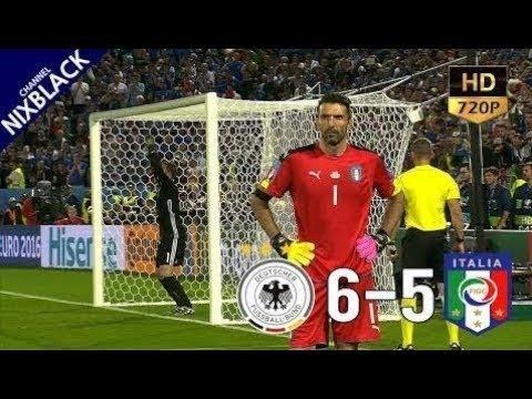 🔥 Германия - Италия 1-1(6-5) - Обзор Матча Четвертьфинал Чемпионата Европы 02/07/2016 HD 🔥