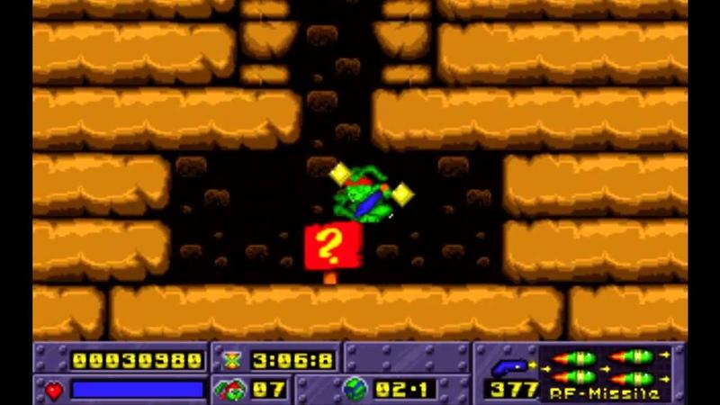 Jazz Jackrabbit 1 [HD]. Episode B (Turbo) - Turtle Soup