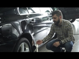 Ремонт некачественно заделанной вмятины Volvo S80