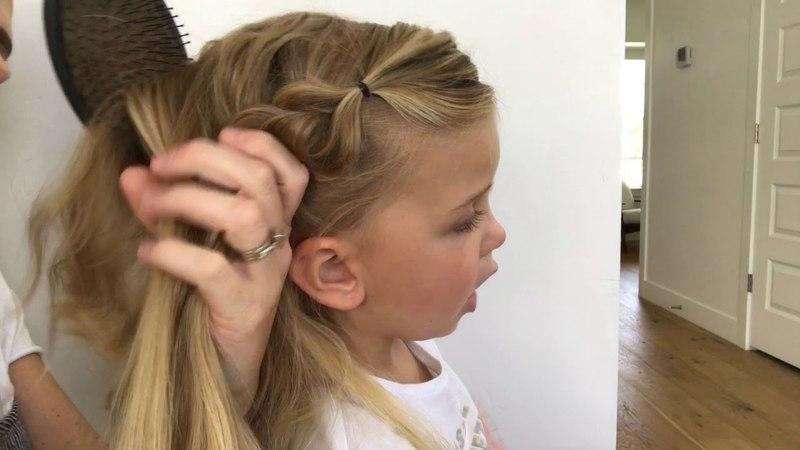Little Girls Hair Tutorial (Elsa Braid) -- Milo