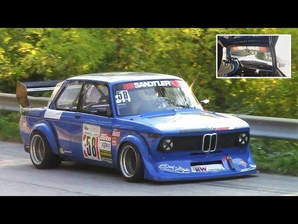 9.000Rpm BMW 2002 Tii    Full Onboard On The Limit!! - 230Hp/830Kg Berg-Cup Monster
