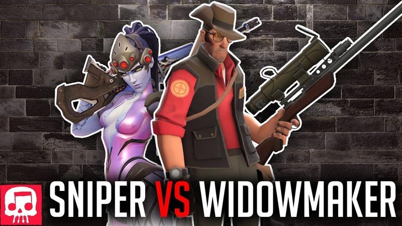 SNIPER VS WIDOWMAKER RAP BATTLE by JT Music (Overwatch vs TF2)